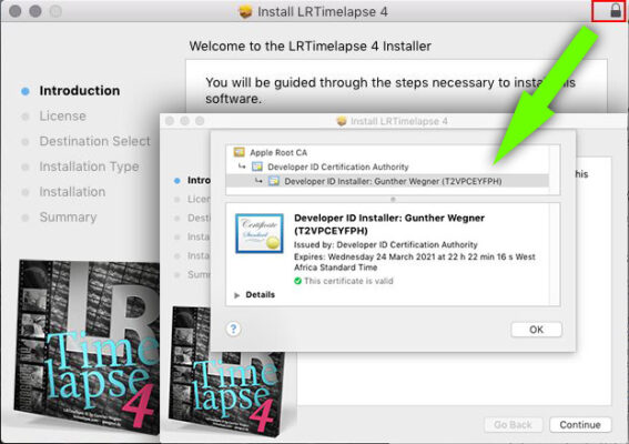 LRTimelapse 4.6 installer on Mac